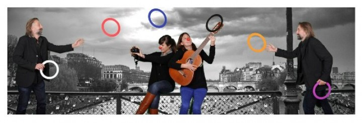 Photomontage multiposes Pont des Arts