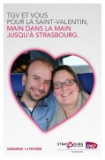 SNCF Voyages - Animated Valentine's Day - Train Paris-Strasbourg - February 14, 2014 - Live
