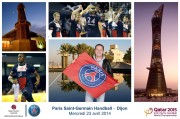 Agence Havas Sports Entertainment - Handball match PSG / Dijon - de Coubertin Stadium- April 23, 2014 - Photomontage